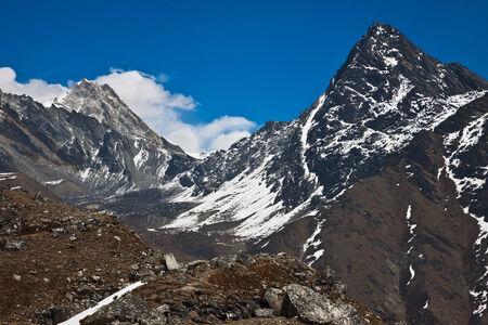 Beautiful Himalayan mountain in a sunny day. Nepal