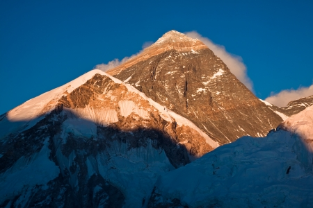 Mount Everest  8848 m   The highest mountain in the world Stock Photo