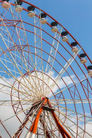 ferriswheel: Ferris wheel over blue sky