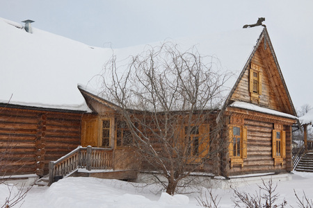 The old wooden house in Russian village