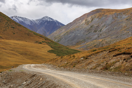 A country road in Altai mountains. Russia