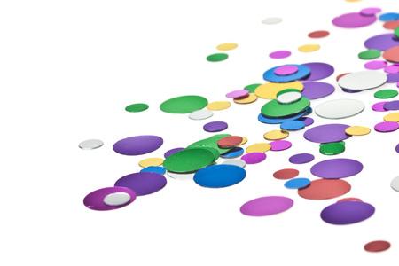 Colored confetti on the white background Stock Photo