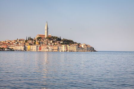 Rovinj town. Croatian fishing port on the west coast of the Istrian peninsula. Adriatic sea. Croatia