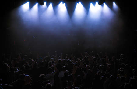 ambiance: Big Live Music Concert and with Crowd and Lights