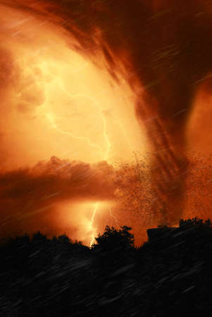 end of the world: night of fire with tornado