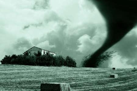 tornado on the hill photo