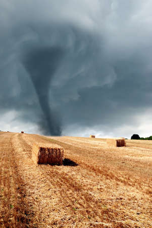 nice twister incoming from the horizon Stock Photo - 8423479