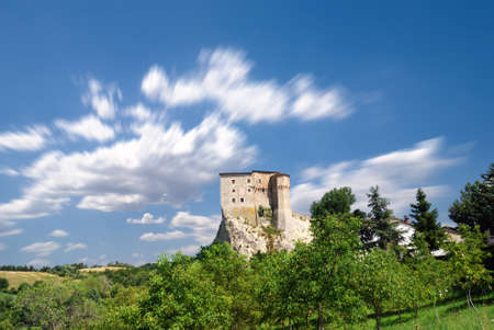 isolated ancient castle under cloudy sky Stock Photo - 8447559