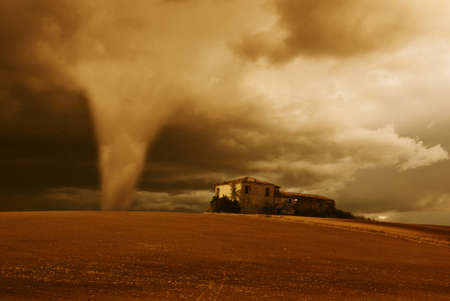 tornado in the early morning Stock Photo - 8890004