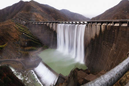 hydroelectric plant on the mountain Stock Photo - 8890812