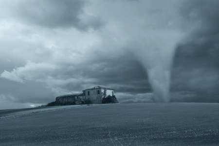 tornado near the old factory photo