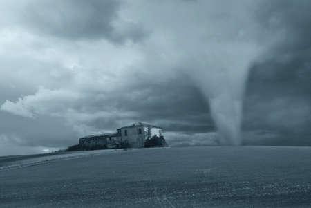 tornado near the old factory Stock Photo - 8890819