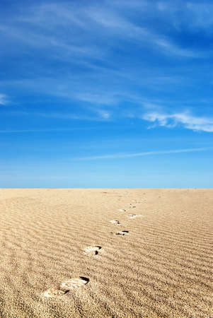 footprints in the soft sand Stock Photo - 9153821