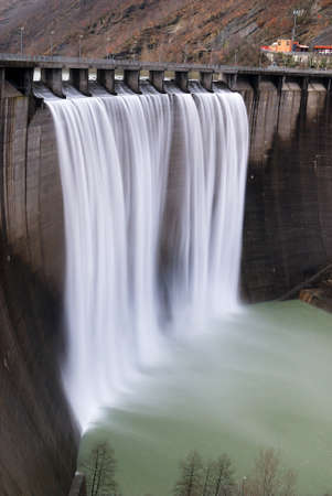 dams: waterfall from the dam