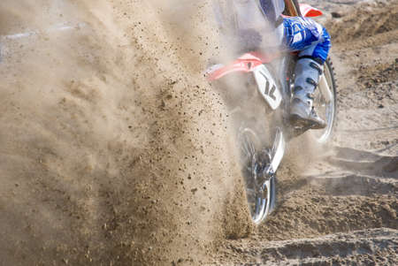 motocross starting on the sand photo