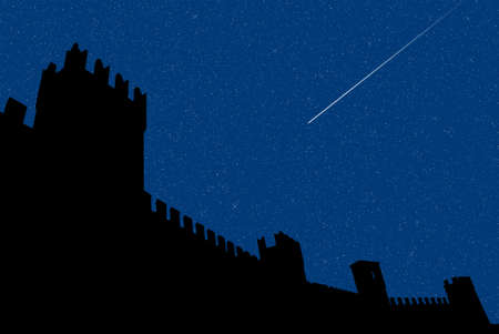 san lorenzo s night at Gradara s castle photo