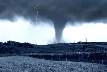 tornado incoming on the fields photo