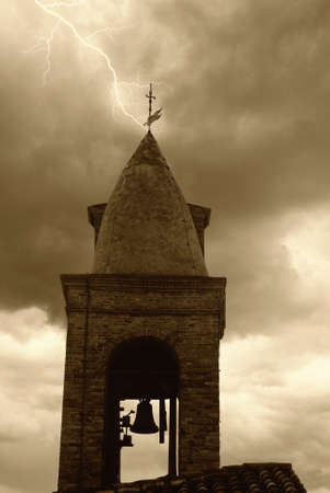 old bell under stormy sky Stock Photo - 12327715