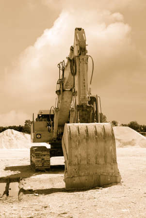 old excavator in the quarry Stock Photo - 13272503