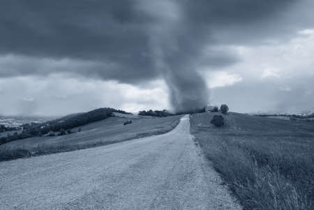 tornado at the end of the road Stock Photo - 13272484