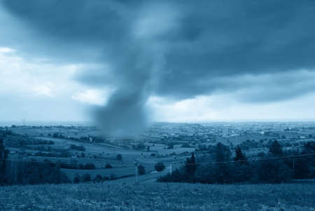 big tornado in the valley Stock Photo - 14644459