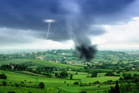 tornado in the valley in spring photo