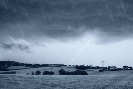 storm with dark sky and lightning Stock Photo - 16747329