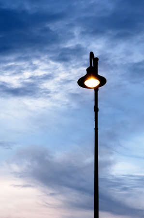 street lamps: street lamps in the evening