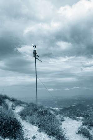 meteo: meteo station on the mountain Stock Photo
