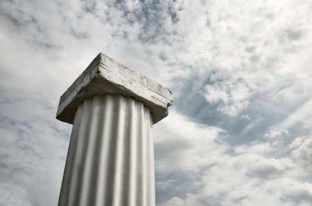 roman column: Roman column under a nice cloudy sky