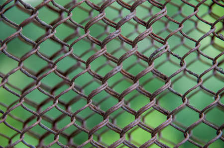 metal mesh: Texture of rusty metal mesh medium size Stock Photo