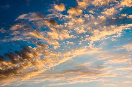 morning sky: gloomy blue morning sky before the storm