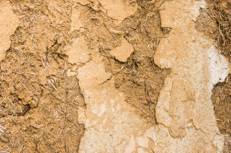 adobe wall: texture adobe wall of an old abandoned house Stock Photo