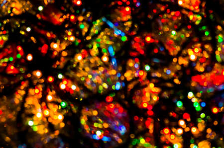 colorful beautiful multi colored christmas lights on a black background stock photo 49122775