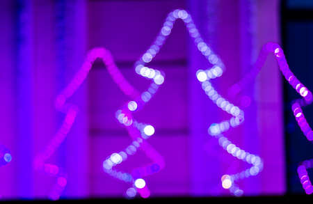 background red: Colorful beautiful multi-colored Christmas blur lights  background