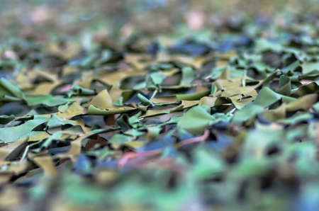 concealment: Army camouflage net for equipment and facilities Stock Photo
