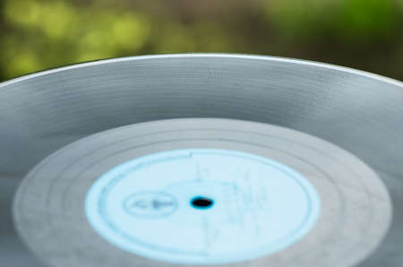 vinyl records: Old vinyl records close to the natural background