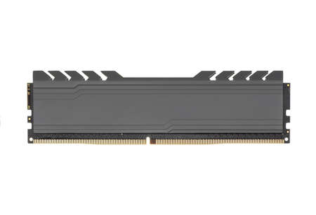 DDR RAM memory module isolated on white background.