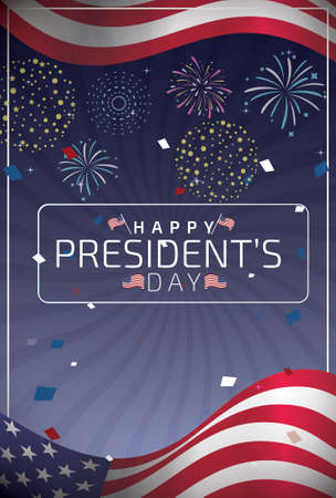 Happy Presidents day design vector illustration 일러스트