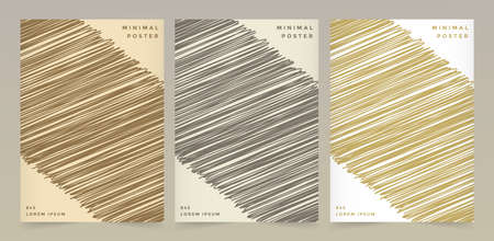 Abstract retro color pattern texture for book cover template vector set