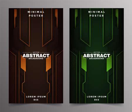 Abstract technology includes minimal luxury design Ilustracje wektorowe