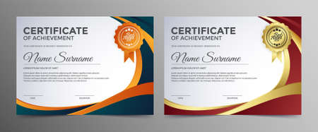 Appreciation certificate best award diploma set. Vektorgrafik