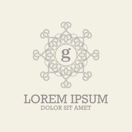Luxury monogram logo template vector object for logo design.