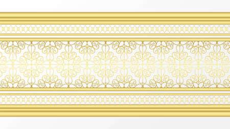 Golden ornamental border 矢量图像
