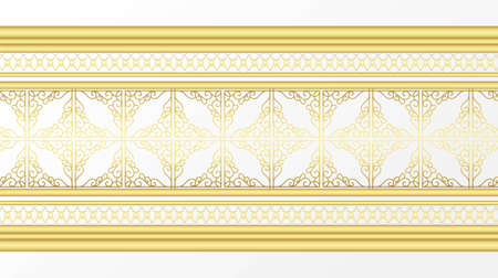 Golden ornamental border Иллюстрация