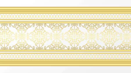 Golden ornamental border 免版税图像 - 149966987
