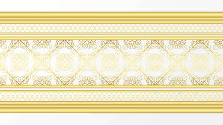 Golden ornamental border 免版税图像 - 149966988