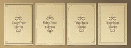 Luxury Vintage ornamental frame collection