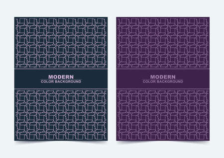 Abstract blue and purple color minimal covers pattern design Иллюстрация