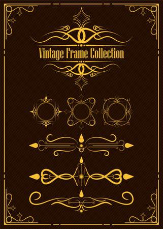 Vintage ornamental frame collection